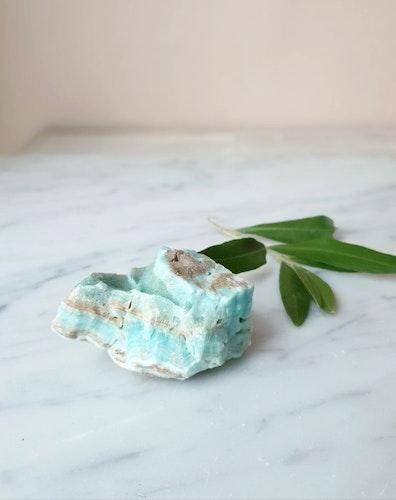 Blå Karibisk kalcit, AAA-Kvalité, Råa bitar, välj din favorit