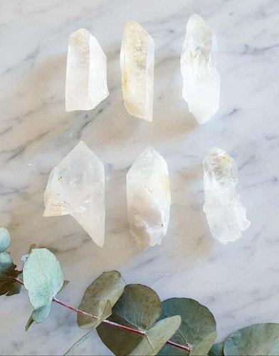 Bergkristallspets, rå från Collier Creek, Arkansas