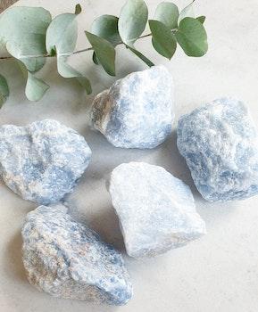 Rå blå kalcit, XL (obehandlade)