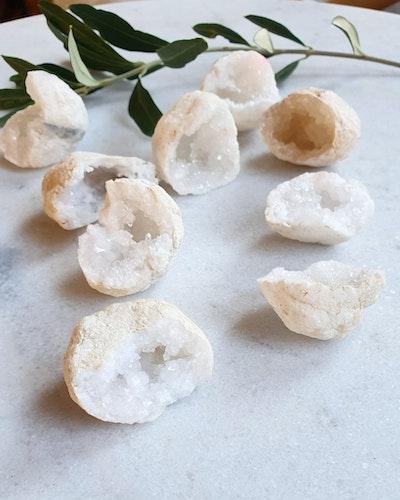 Minigeod i bergkristall