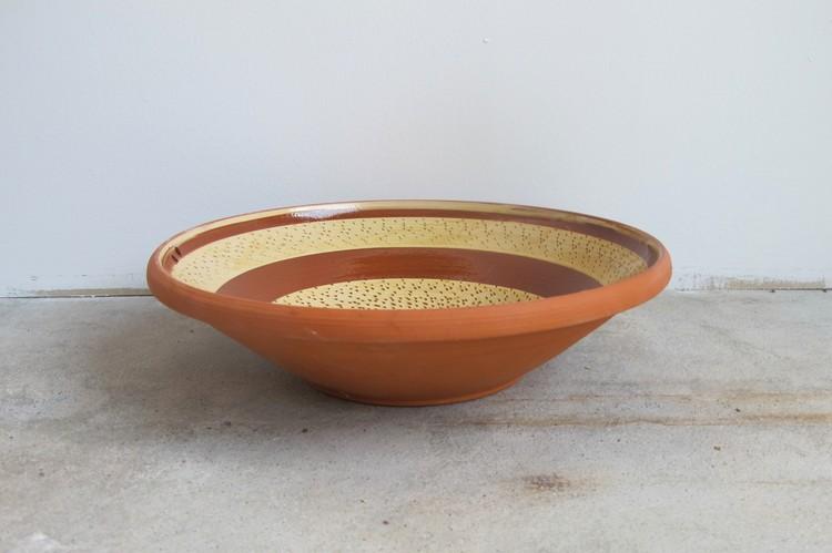 Stor dekorerad skål