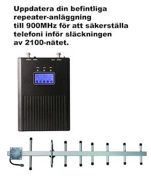 Paket för Telenor/Tele2, +15dBm uppdatering till 900Mhz