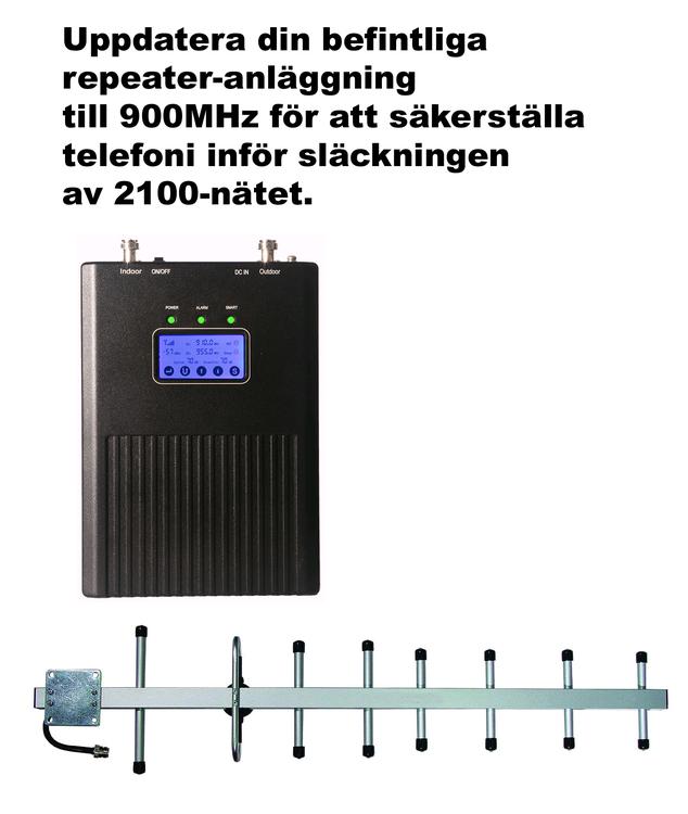 Paket för Telia, +30dBm uppdatering till 900Mhz