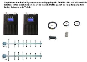 Paket Telia, Telenor och Tele2,  +30dBm uppdatering till 900MHz