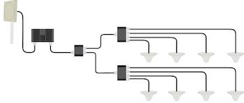 Paket för Telenor/Tele2, +23dBm med åtta inomhusantenner 900Mhz