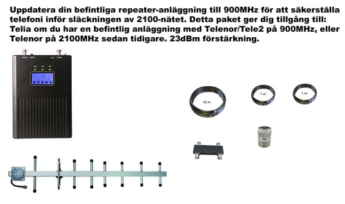 Plus en operatör, för Telia 900Mhz 23dBm paket