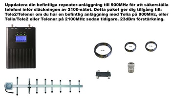 Plus två operatörer, 900Mhz Tele2/Telenor 23dBm paket