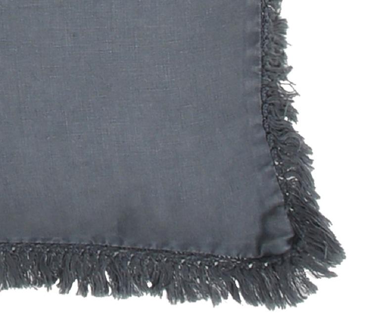 Kuddfodral Natalia i linne med dekorativ fransig kant 100% lin