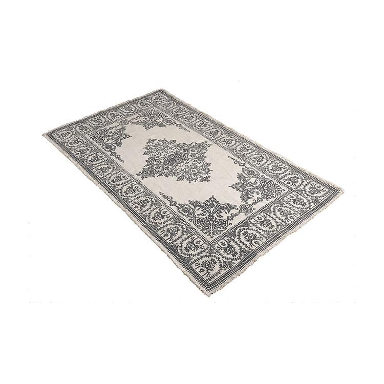 Matta Ester 120X180 cm med mönster i grått 100% bomull