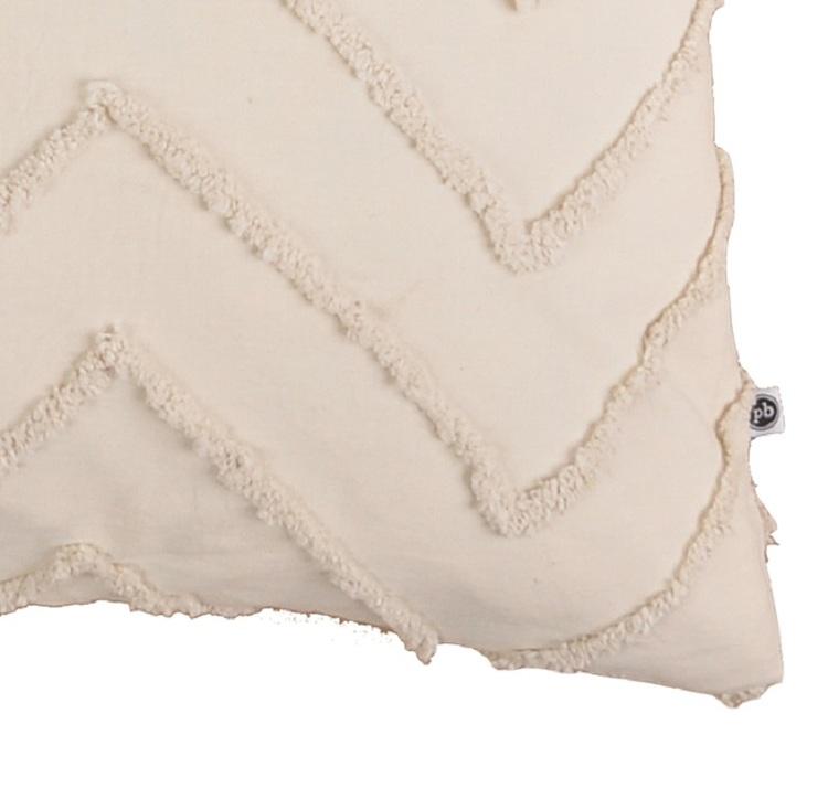 Kuddfodral Nova offwhite med dekorativa sömmar 100% bomull