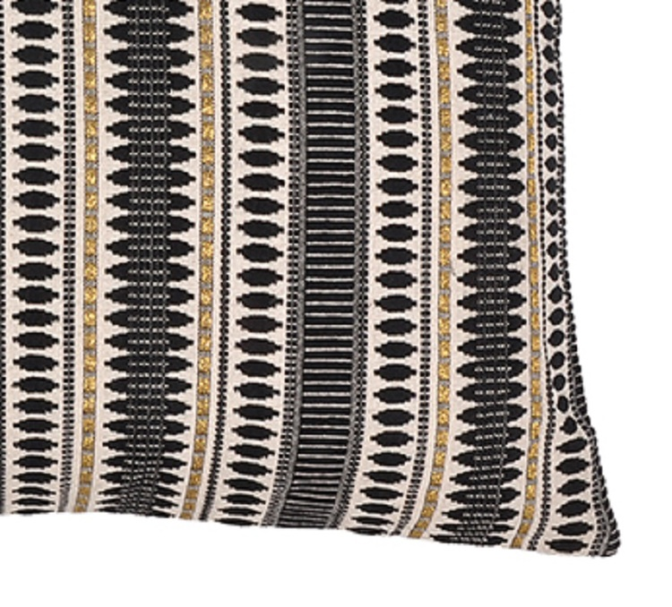 Kuddfodral Della i mönstrad jaquard 100% bomull