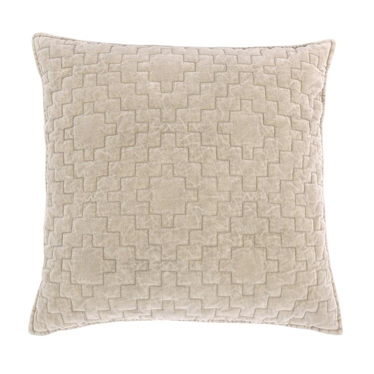 Kuddfodral Saffi i sammet med dekorativa sömmar 100% bomull