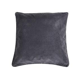 Kuddfodral Adiv i mörkgrå sammet och passpoal kant 100% bomull