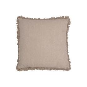 Kuddfodral Naemi i linne med dekorativ fransig kant 100% linne
