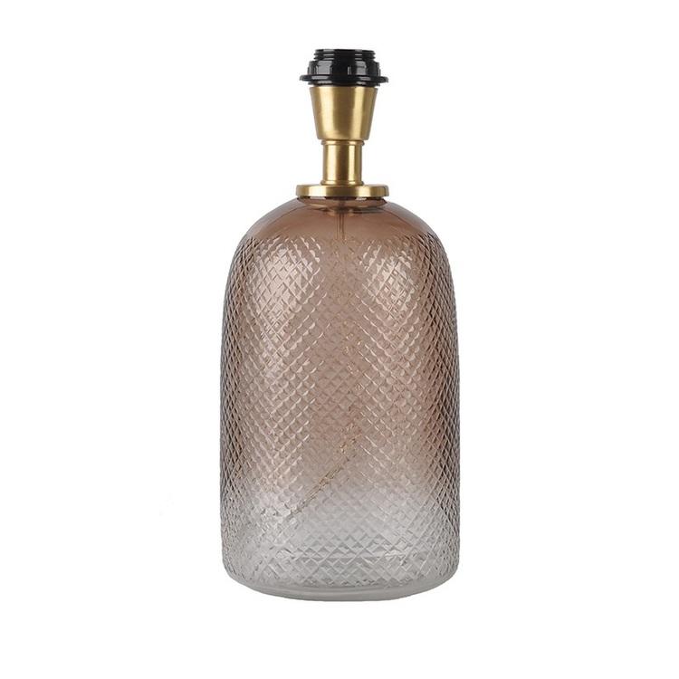 Lampfot Flynn i tonat handblåst glas 34 cm