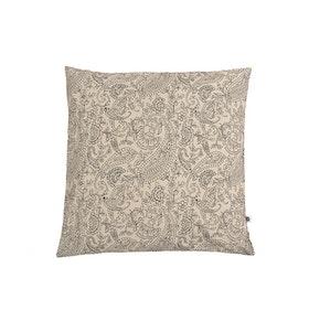 Kuddfodral Dante beige svart mönstrad 100% bomull