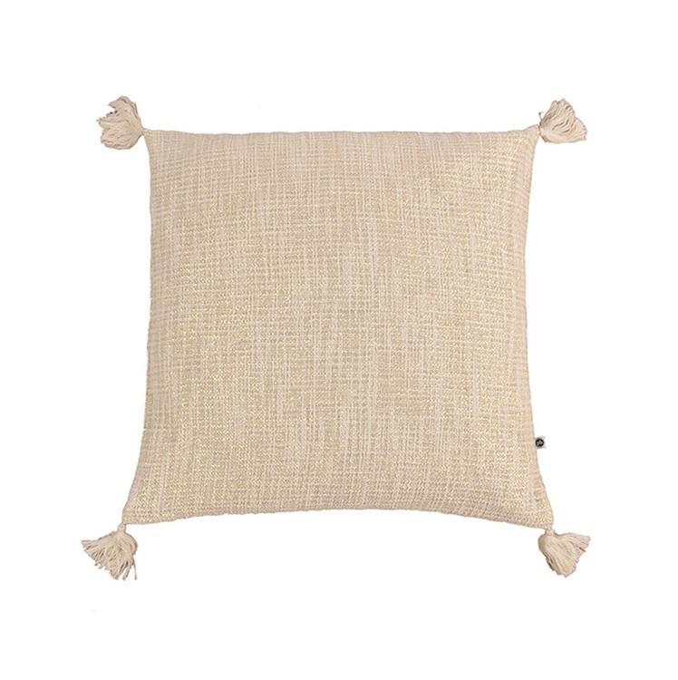 Kuddfodral Krishna i benvitt med tofsar 100% bomull