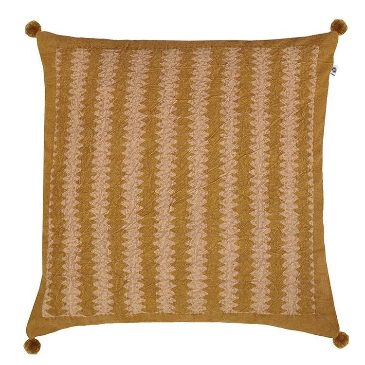 Kuddfodral Jordyn mönstrad med tofsar 100% bomull
