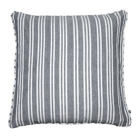 Kuddfodral York randigt grå och vitt 100% bomull