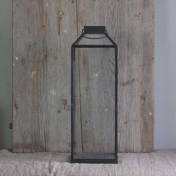 Ljuslykta Hale large i metall och glas