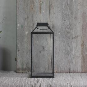 Ljuslykta Hale small i metall och glas