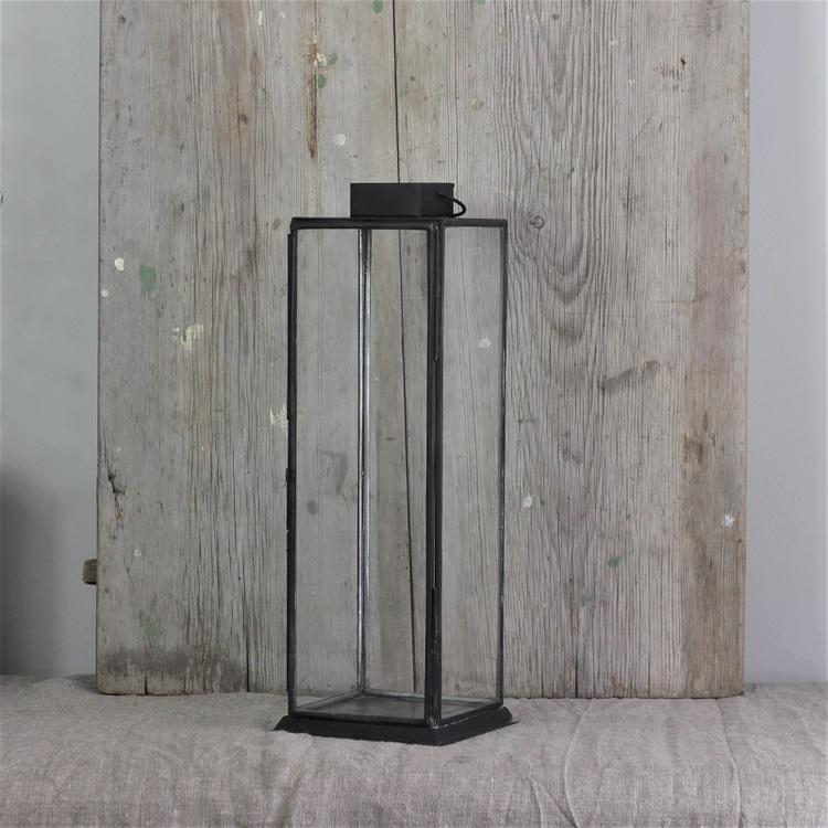 Ljuslykta Hoy small i metall och glas