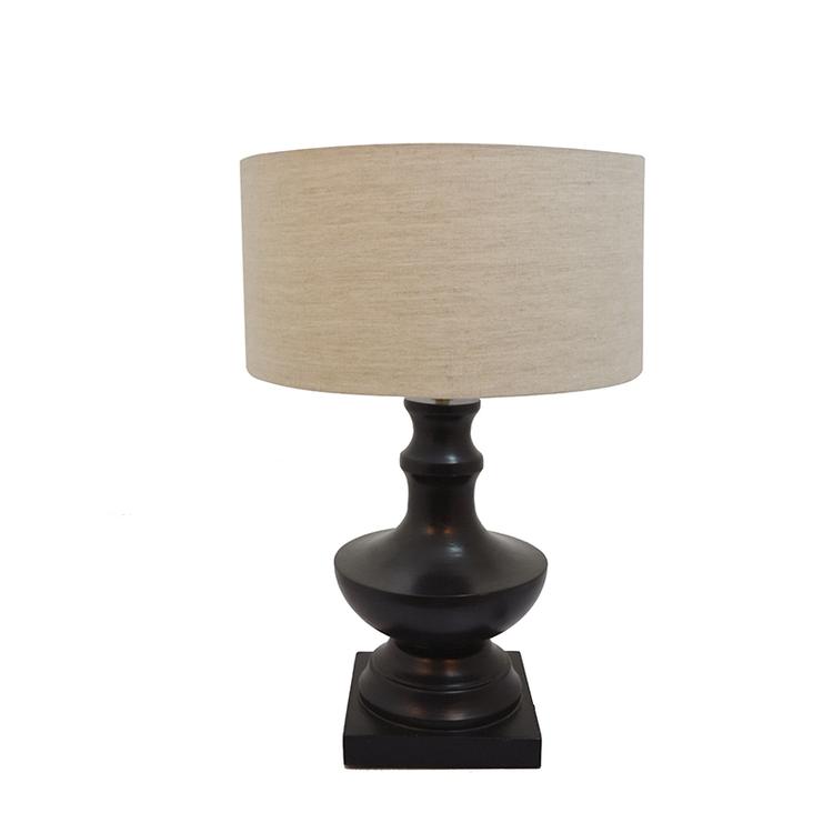 Lampa Arcadia med skärm, mörkt grå