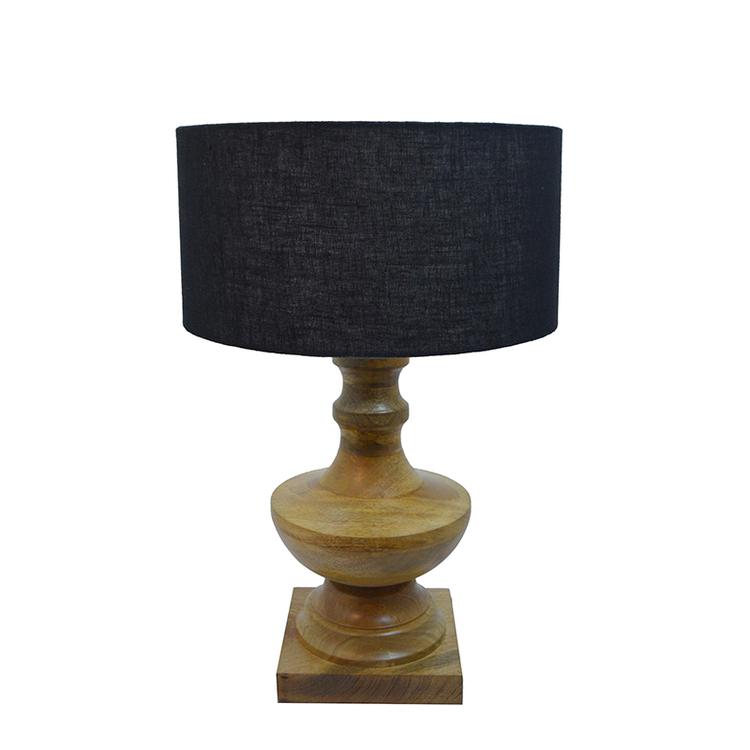 Lampa Arcadia med skärm, träfärgad