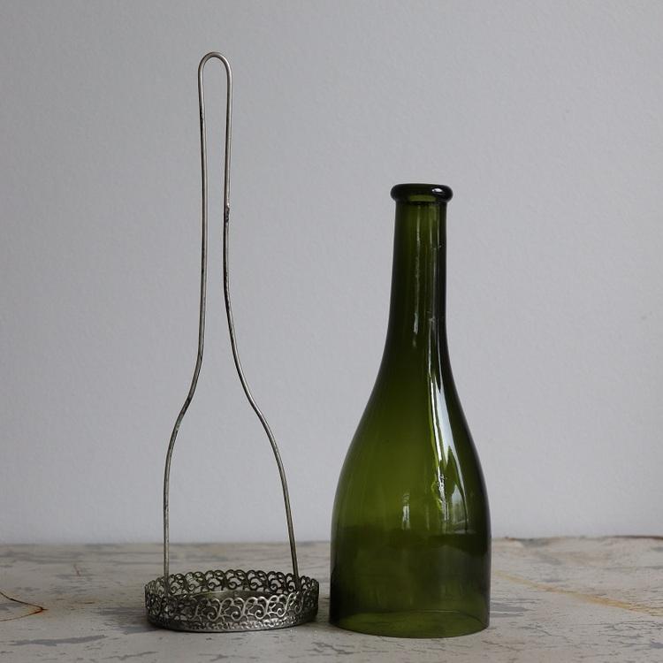 Hängande ljuslykta Kate i grönt glas