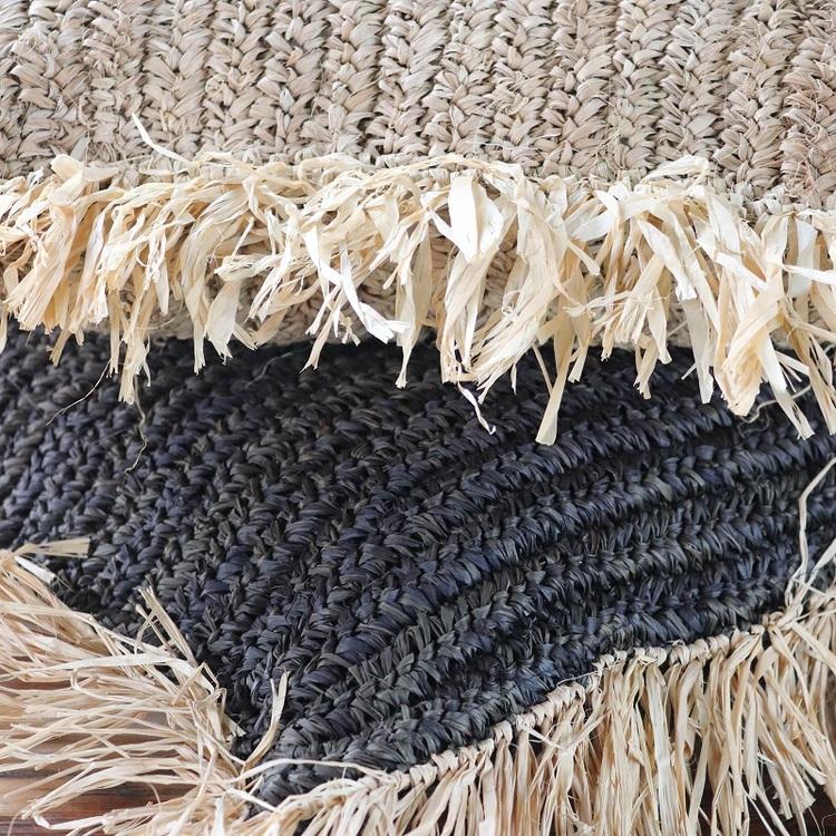 Kuddfodral Putu, av flätad bast natur