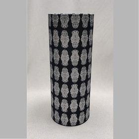Lampskärm hög, mönstrad svart vit