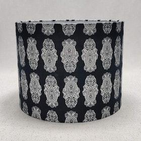 Lampskärm svart/vit  L