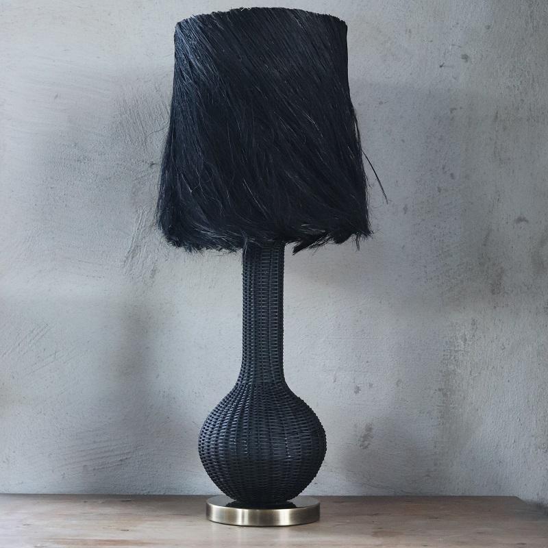 Lampfot Zarah i svart rotting