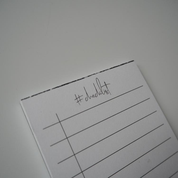 #Checklist litet anteckningsblock, 2a handssortering