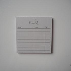 #Wishlist litet anteckningsblock, 2a handssortering