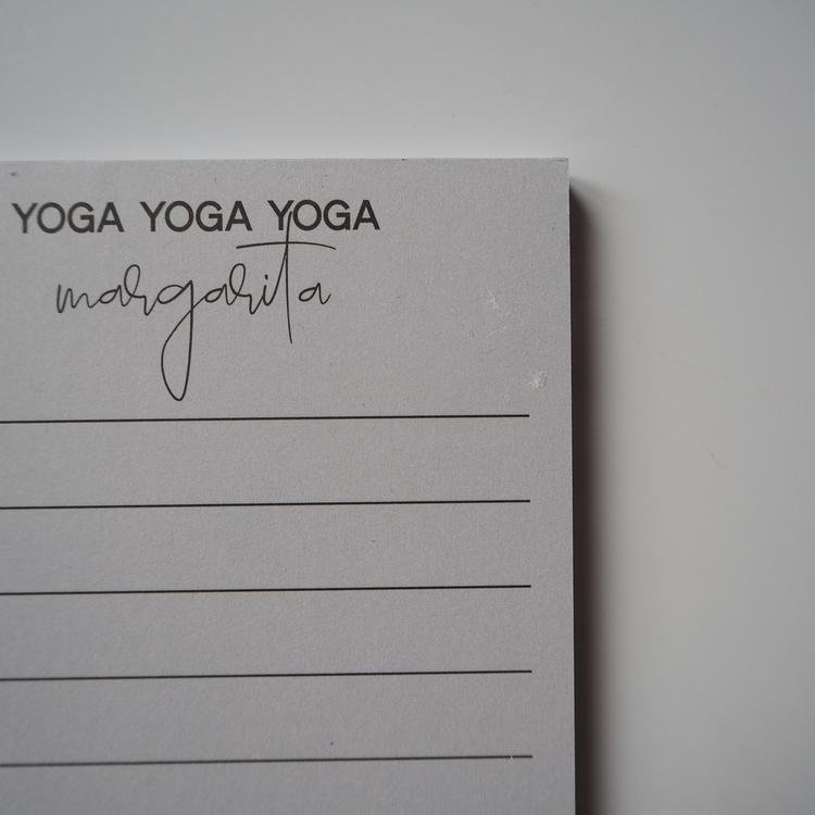 Yoga Yoga Yoga margarita anteckningsblock 2:a handssortering
