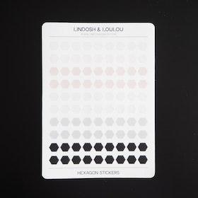 Hexagon mini klistermärken