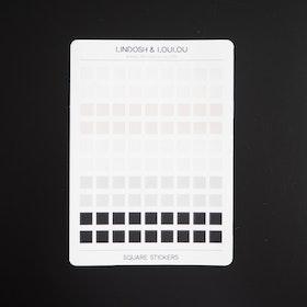 Kvadratiska mini klistermärken