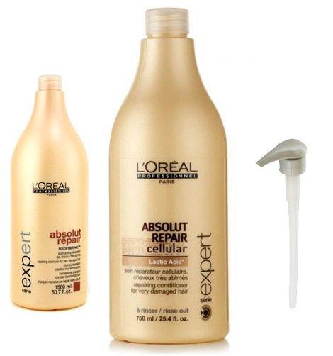 L'Oréal schampo 1 500 ml och balsam 750 ml