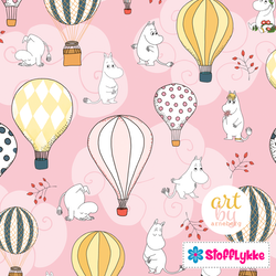 Air Ballon Baby Pink Woven Cotton