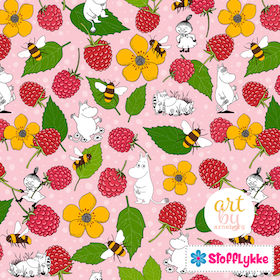 Raspberry Paradise Baby Pink Woven Cotton
