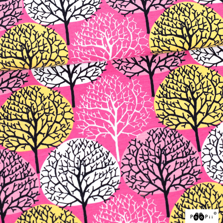 Trees Pink/Yellow/Light Pink Jersey