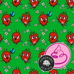 Strawberry Jungle Green Jersey