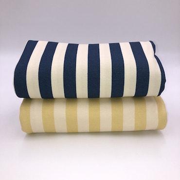 Stripes Deep Blue Creme Jersey OBS läs info.