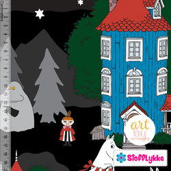 Night in the Moomin Valley Black Jersey