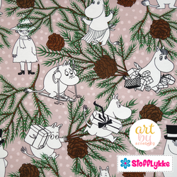 Mumin Pinecone Dusty Pink French Terry