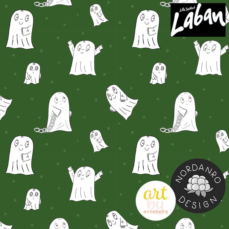 Spöket Laban Dark Green (010) French Terry