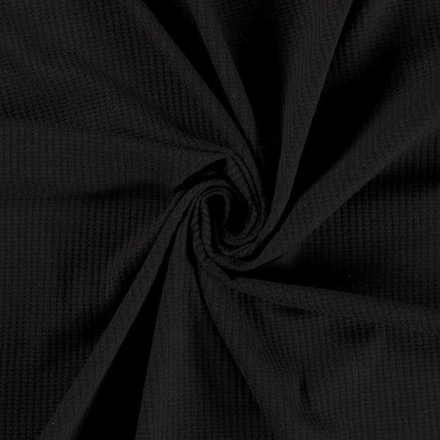 Våfflad Jersey Black