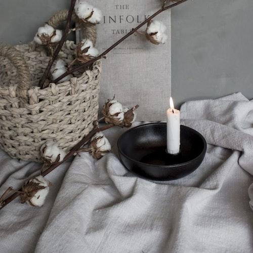 Lidatorp svart ljusstake/skål