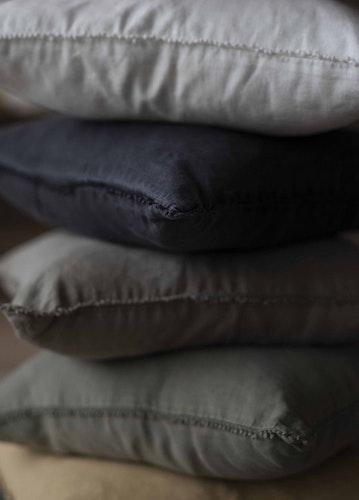 Kuddfodral i linne, grönt